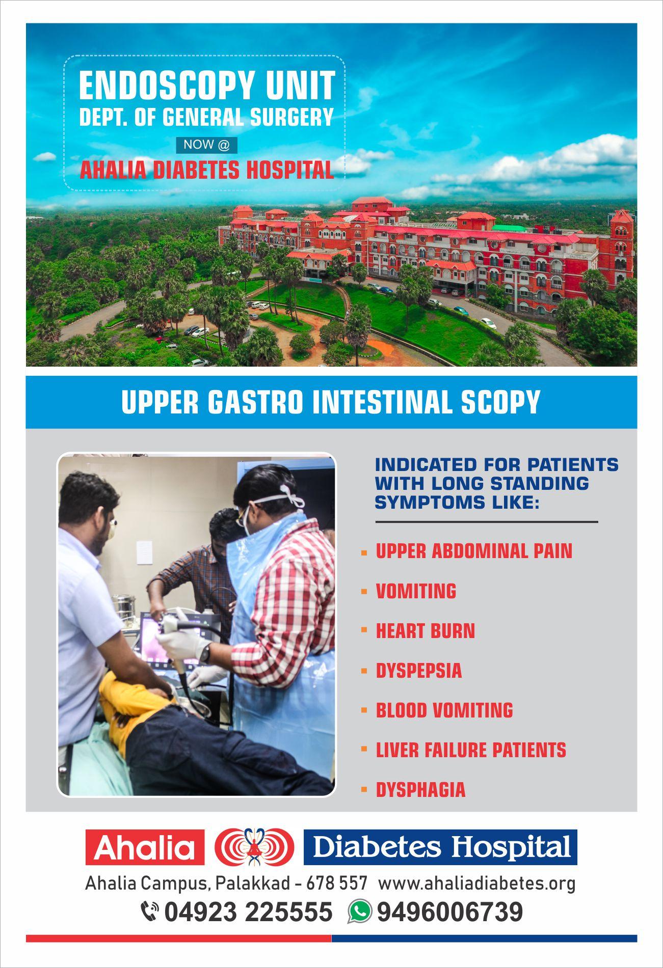 Endoscopy Department: Ahalia Diabetes Hospital